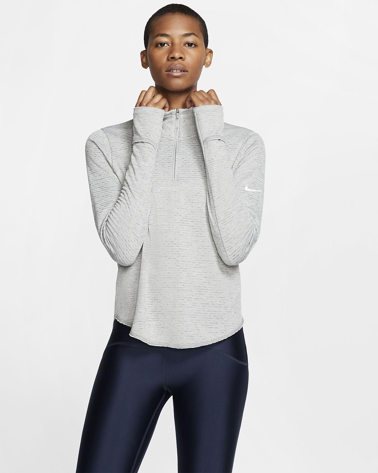 Maglia da running con zip a metà lunghezza Nike Sphere - Donna