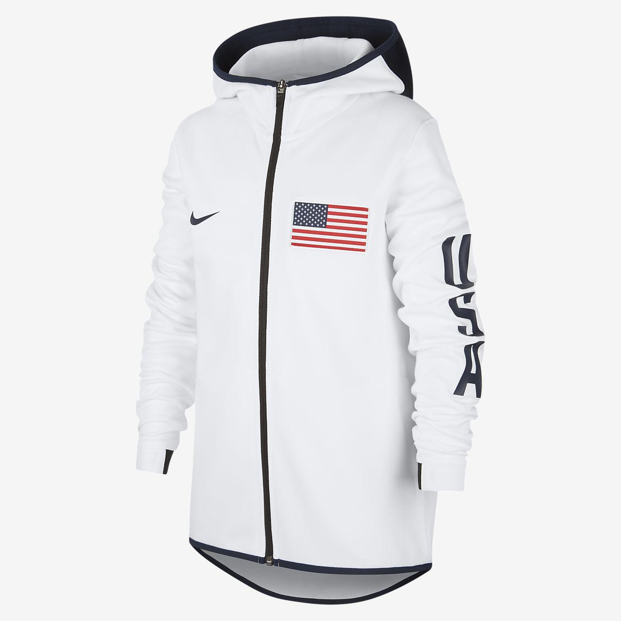USA Nike Showtime Kids' Basketball Hoodie