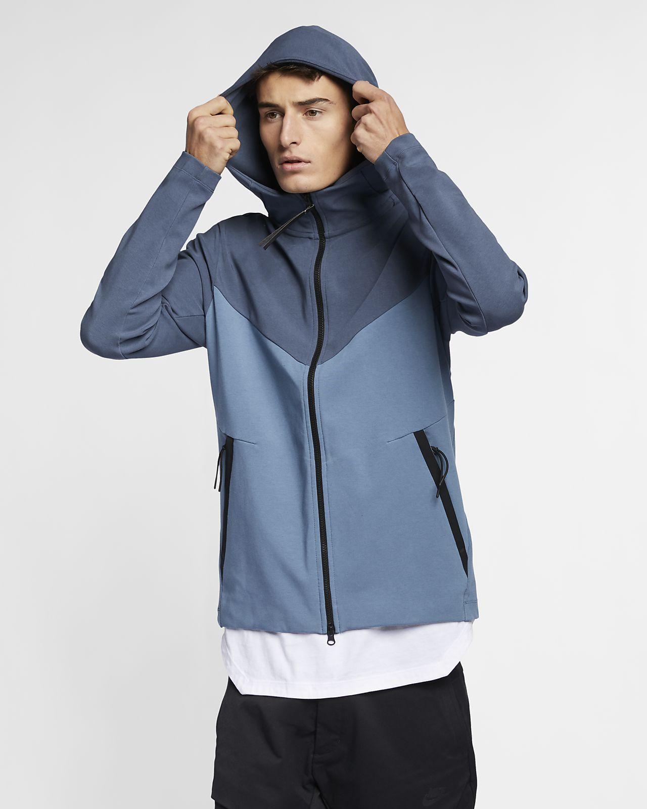 Nike Sportswear Tech Pack 男款全長式拉鍊針織連帽上衣