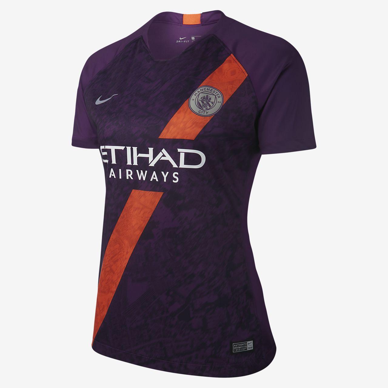 Maillot à manches courtes Nike Breathe Manchester City FC Stadium pour Femme
