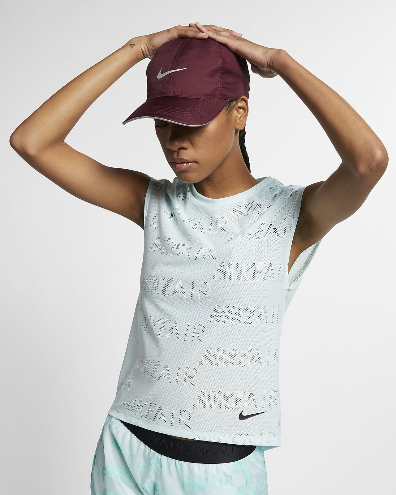 Prenda para la parte superior de running de manga corta para mujer Nike Air