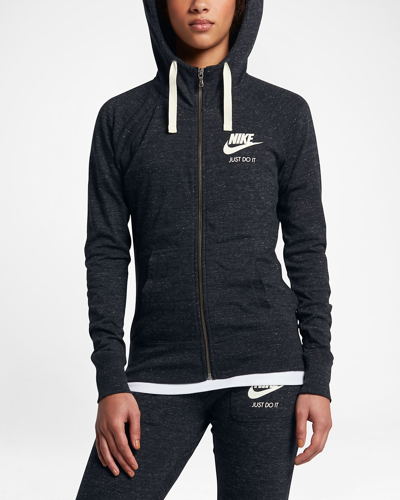 101bf6daf Nike Sportswear Gym Vintage – hættetrøje med lynlås til kvinder