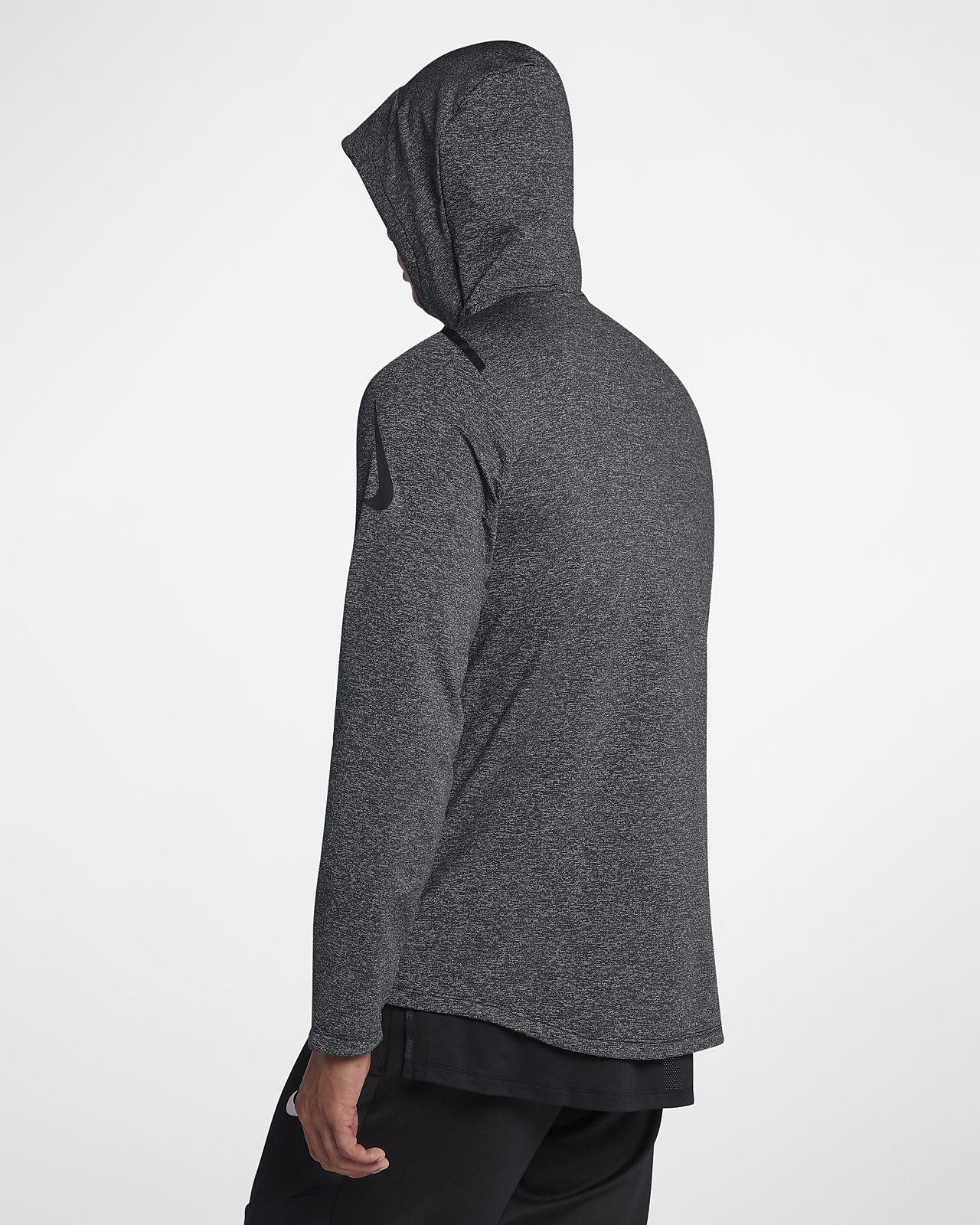 ce7da386eb9 ... Nike Dri-FIT Sudadera de entrenamiento de manga larga con capucha y  cremallera completa -