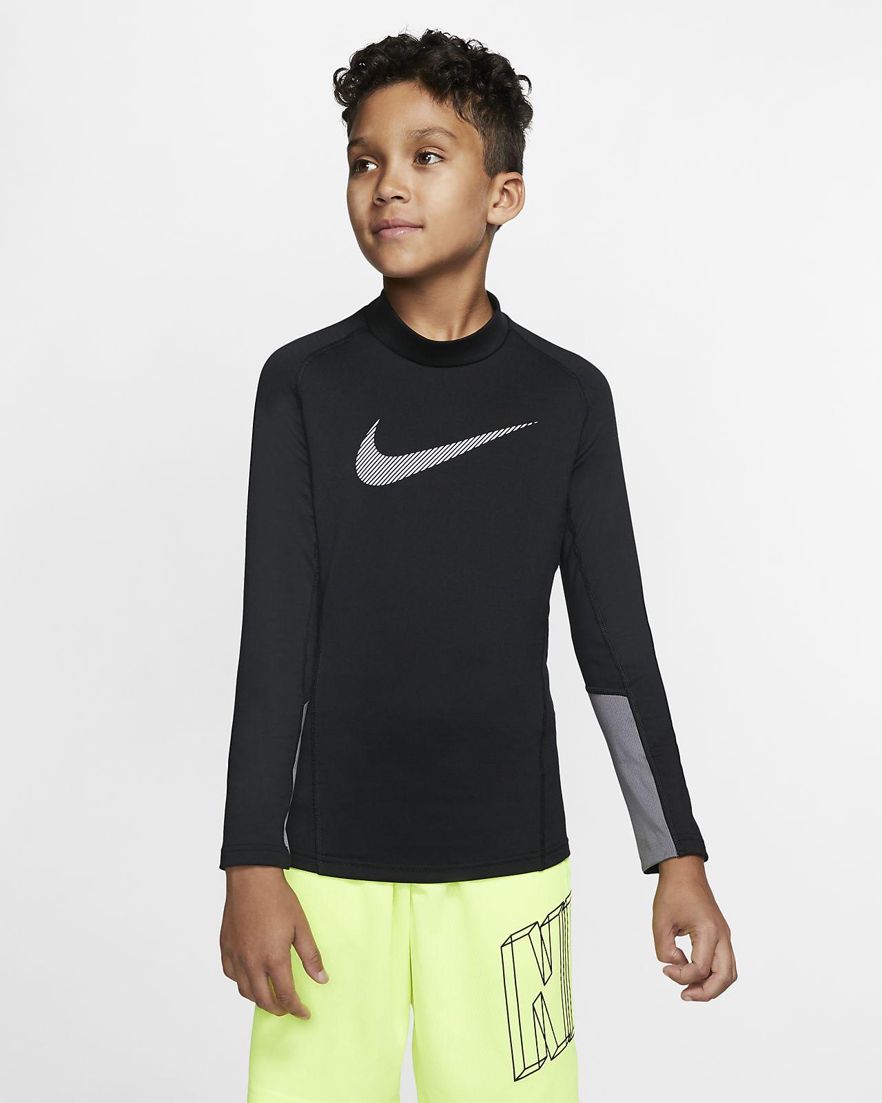 Nike Pro Therma Big Kids' (Boys') Long-Sleeve Mock-Neck Training Top