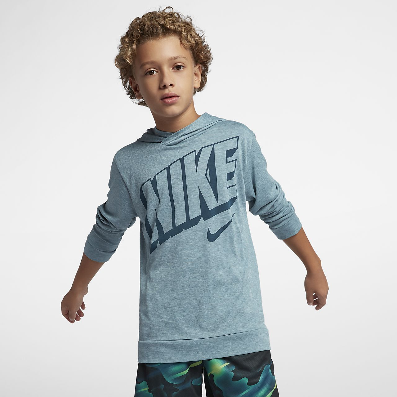 6222f9dc Nike Dri-FIT Breathe Big Kids' (Boys') Long Sleeve Training Top ...