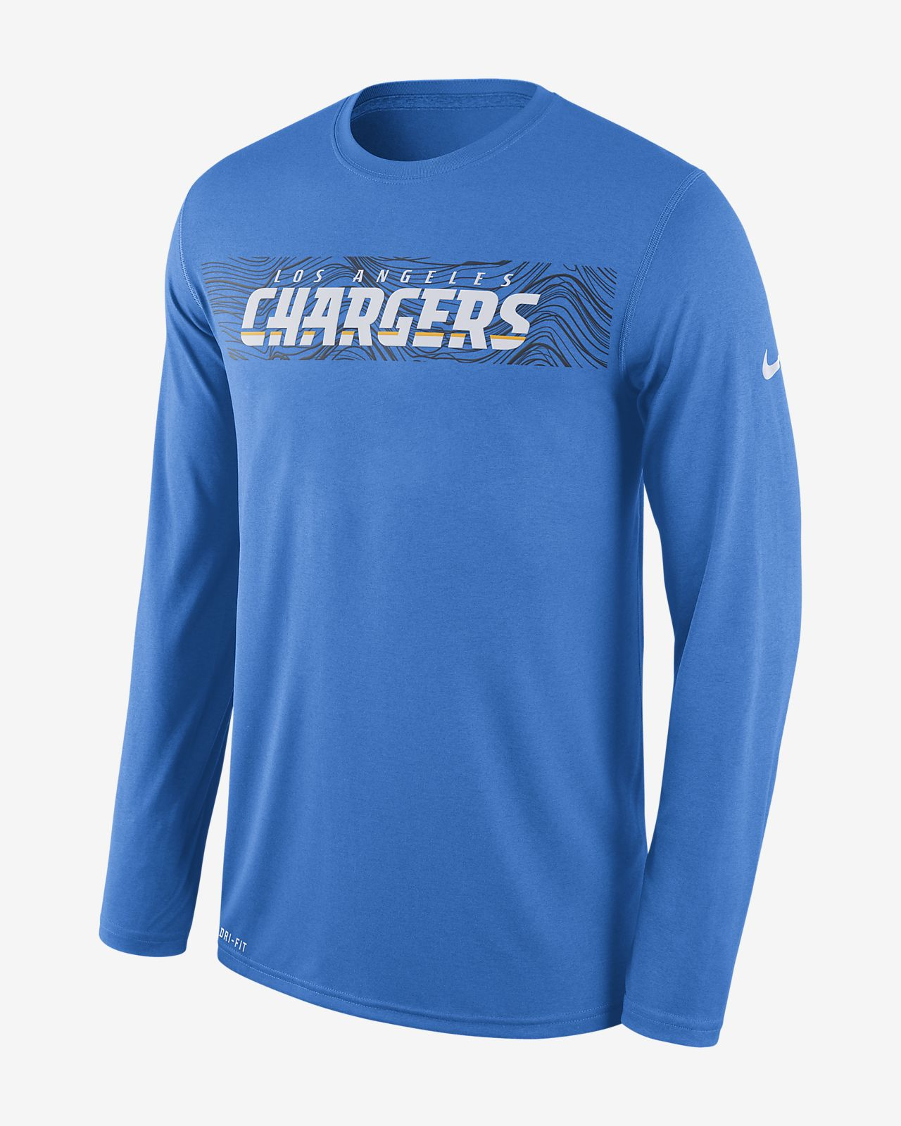 Nike Dri-FIT Legend Seismic (NFL Chargers) Men s Long Sleeve T-Shirt ... 1785471a13f