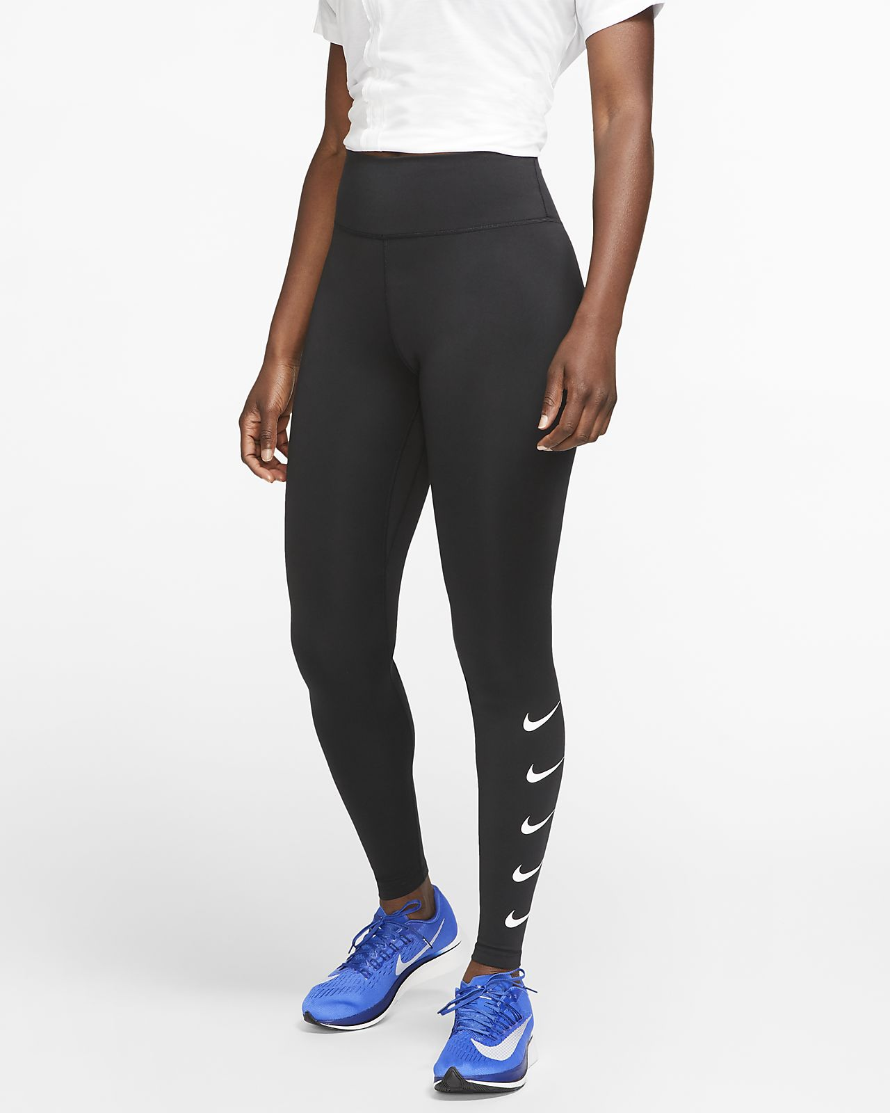new appearance coupon codes free shipping Nike Swoosh Lauf-Tights für Damen