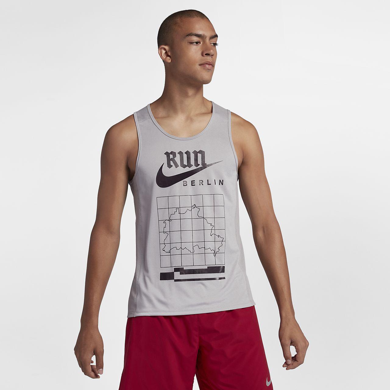 6c80e6f2413501 Nike Miler (Berlin 2018) Men s Running Tank. Nike.com CA