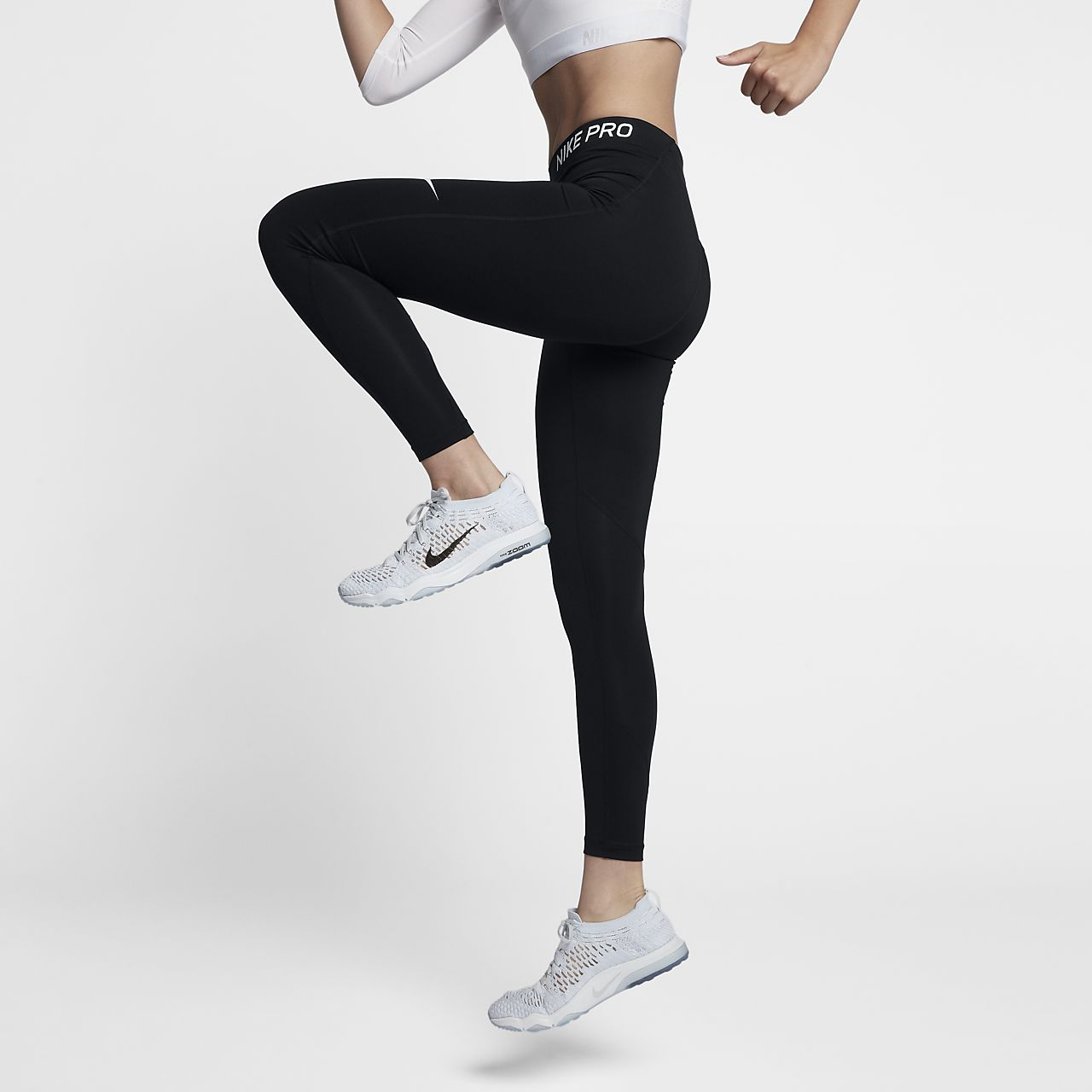 523a37b3fbefe Nike Pro Women's Mid-Rise Training Tights. Nike.com
