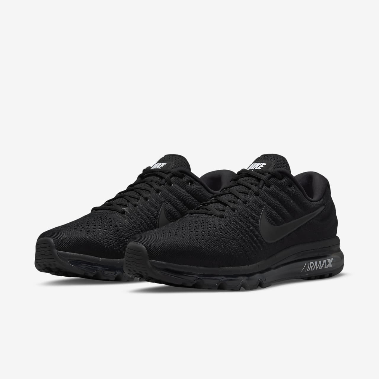 mens nike air max 2017 grey/black pumps