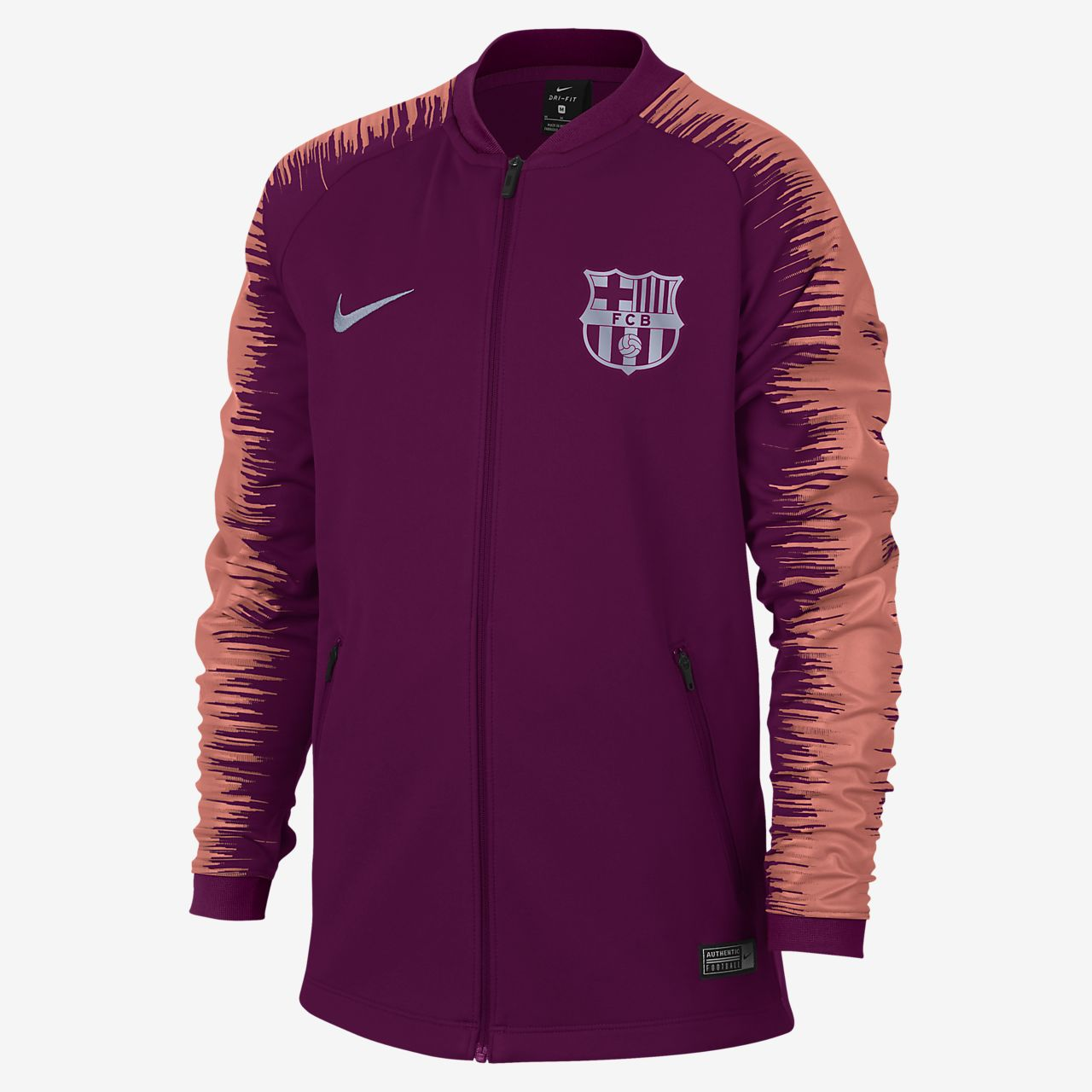 c0112811f9 FC Barcelona Anthem Big Kids  Soccer Jacket. Nike.com