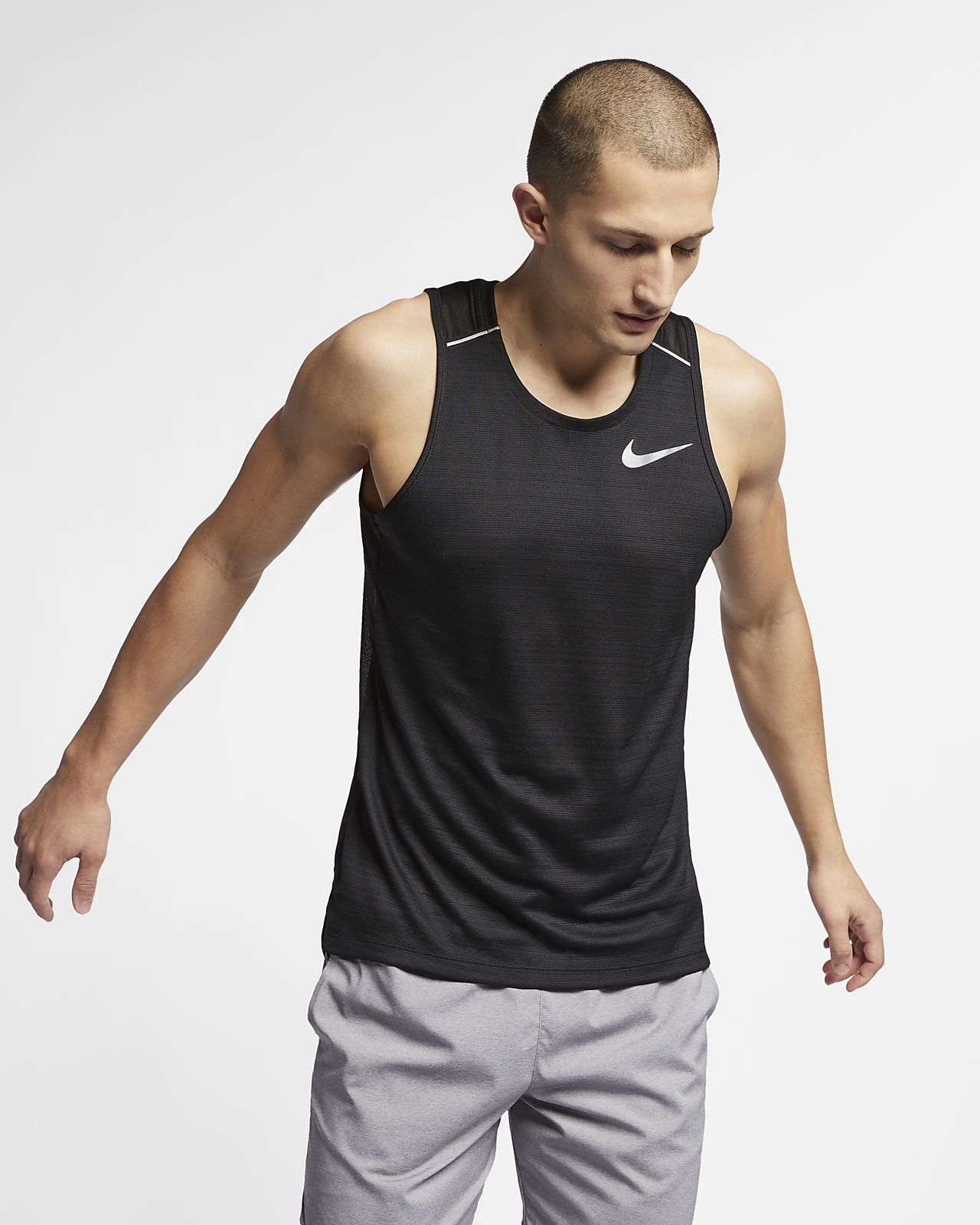 09c09eaab36377 Nike Dri-FIT Miler Men s Running Tank. Nike.com GB