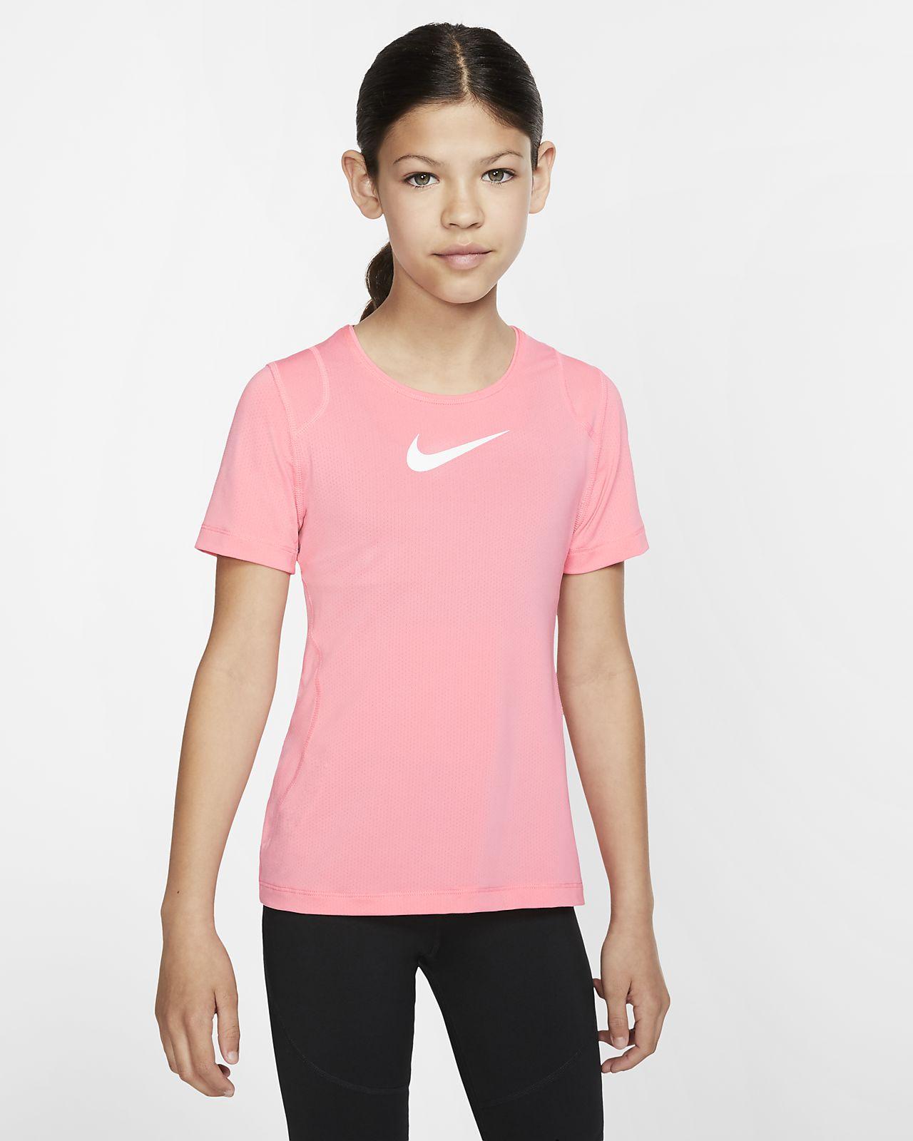 Prenda superior de manga corta para niña talla grande Nike Pro