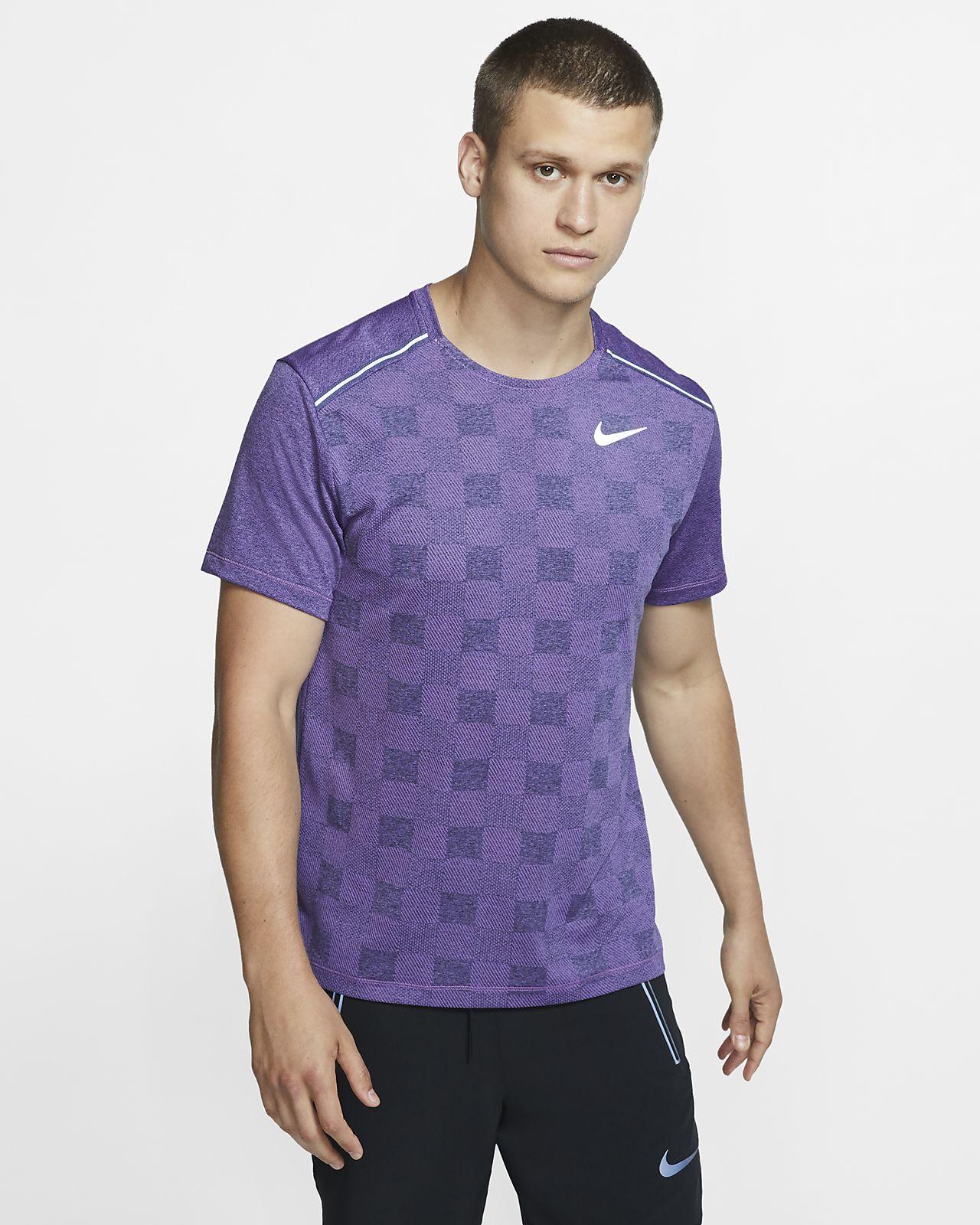 Haut de running en tricot à manches courtes Nike Dri-FIT Miler pour Homme