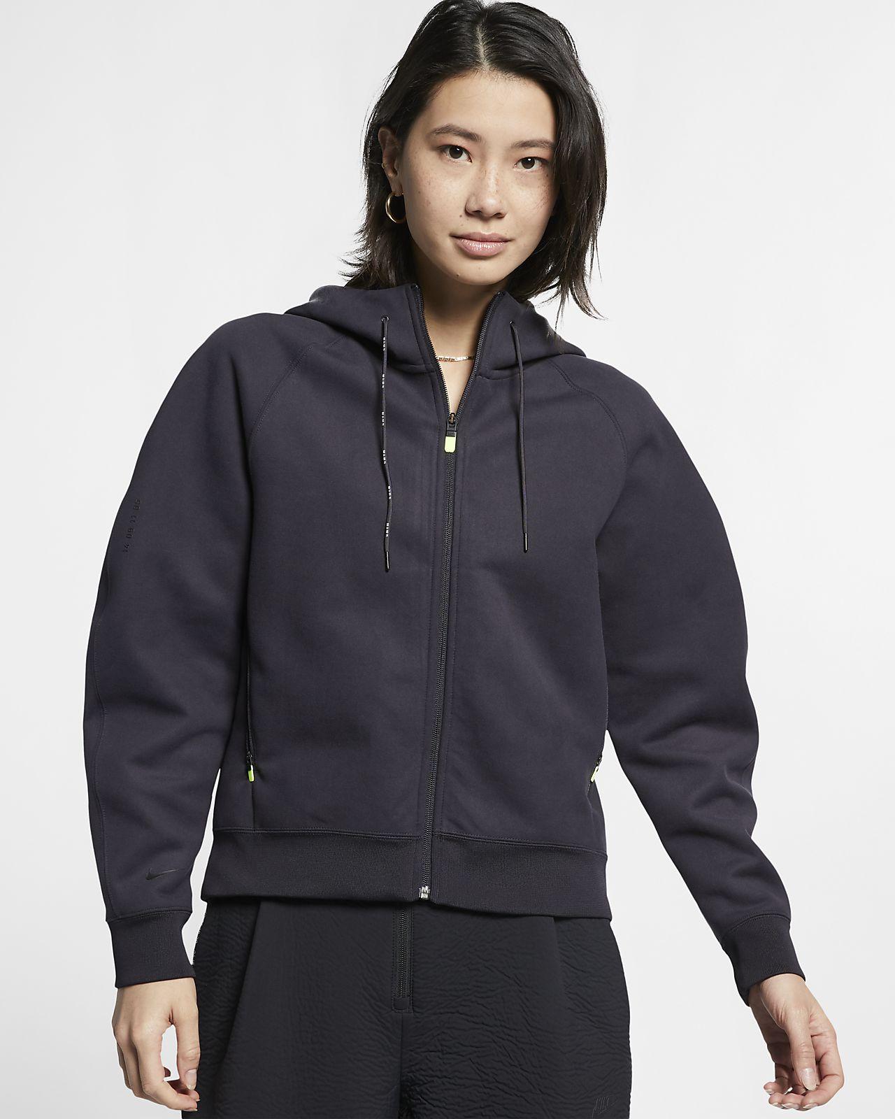 Nike Sportswear Tech Pack Tam Boy Fermuarlı Yünlü Kadın Kapüşonlu Üst