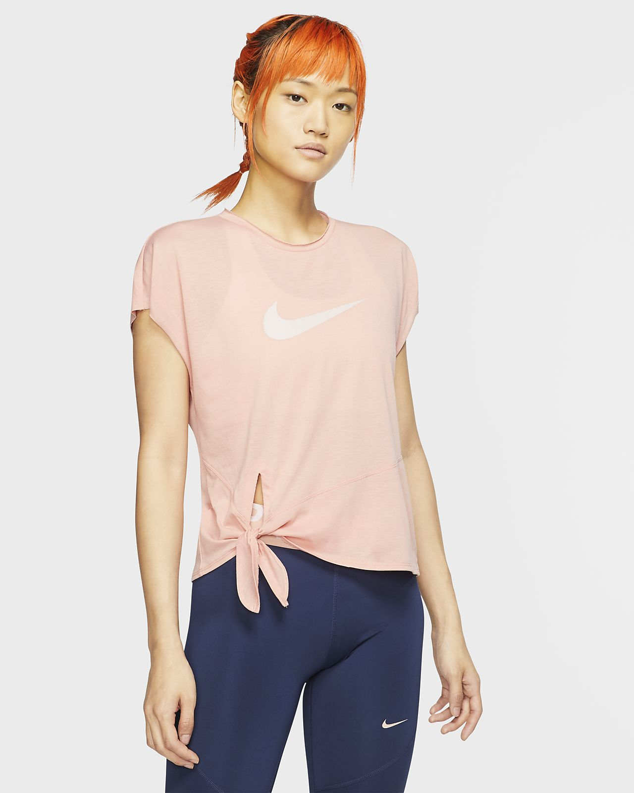 Nike Dri-FIT Trainingstop met korte mouwen voor dames
