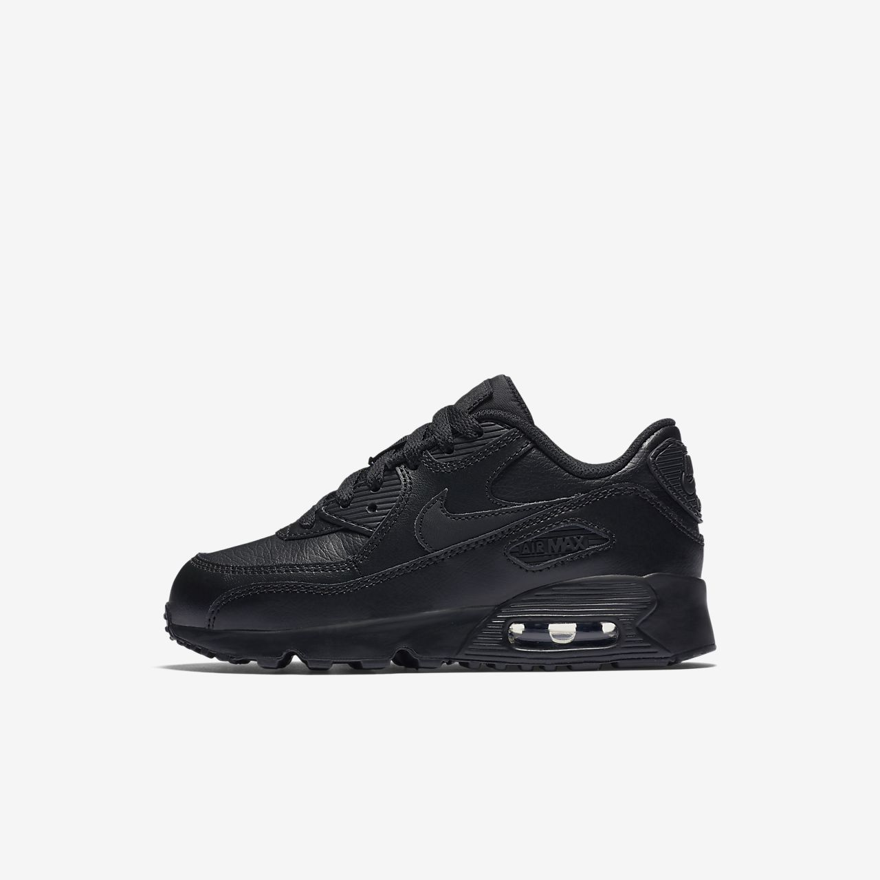 cheap black leather nike air max 90 nz