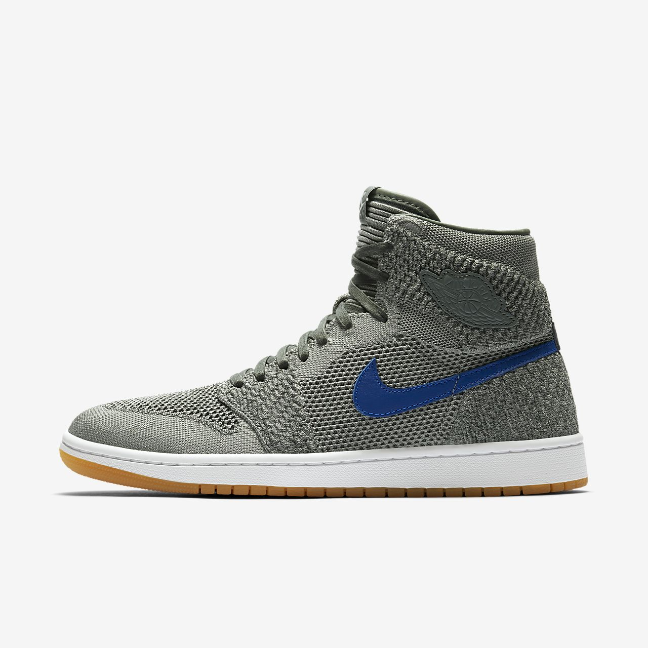 Nike Air Jordan 1 High Flyknit Black/blue Sz 10.5