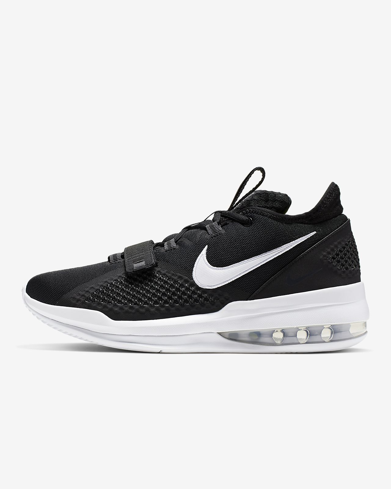 Nike Air Force Max Low Sz 10.5 Bv0651 001 Black Baske