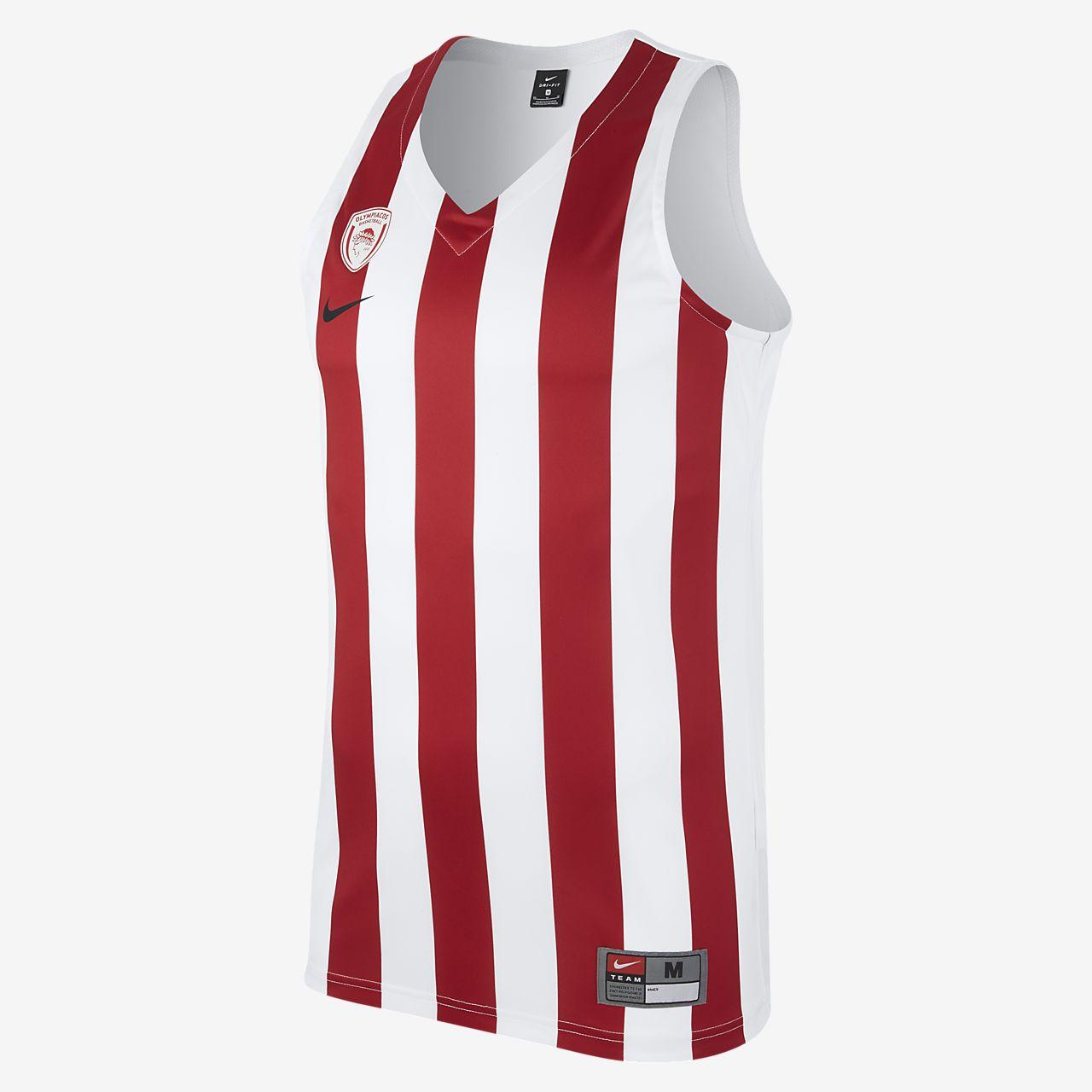 timeless design aa09c 8ce6b ... Olympiacos BC Replica Herren-Basketballtrikot