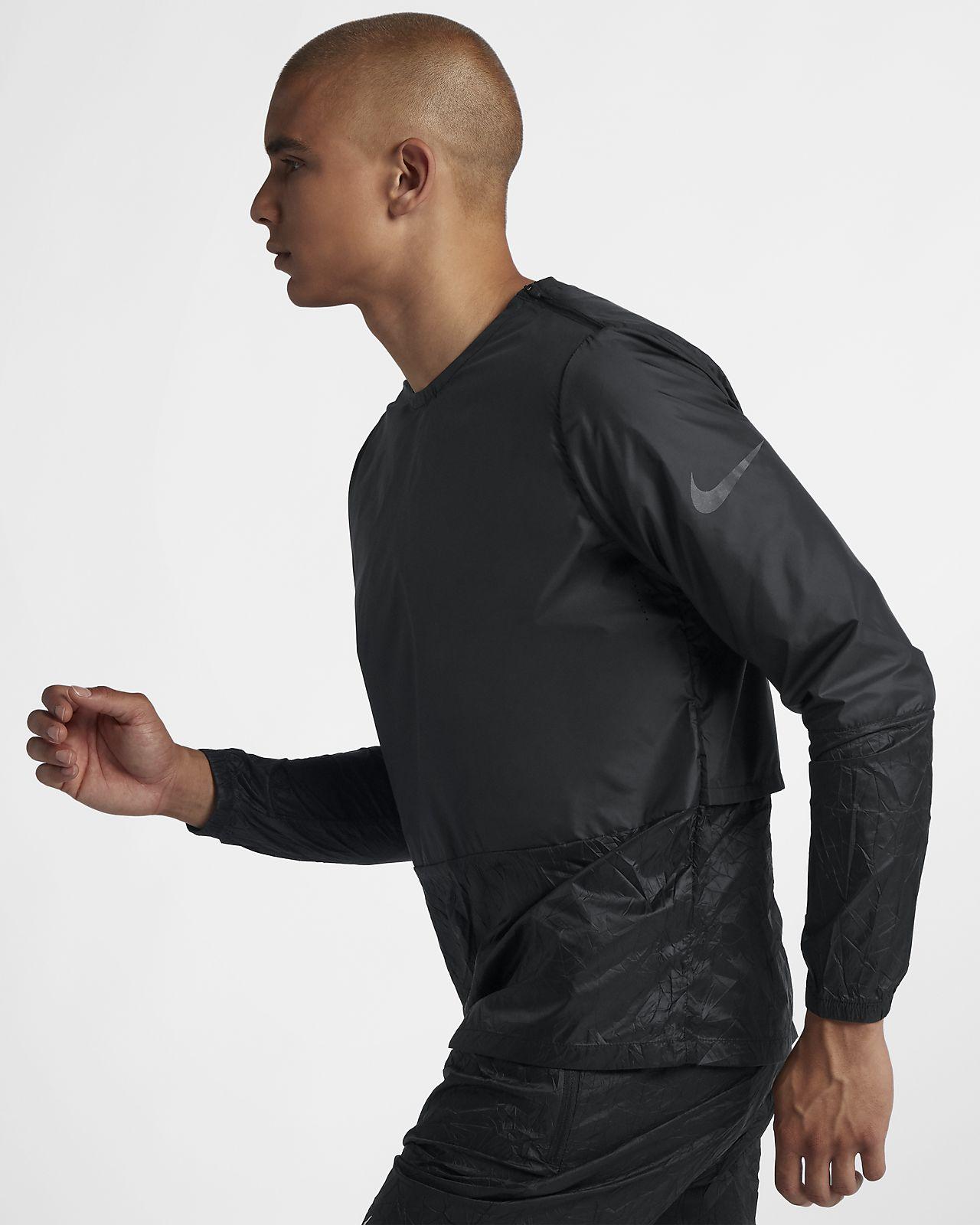 Nike-løbejakke med rund hals til mænd