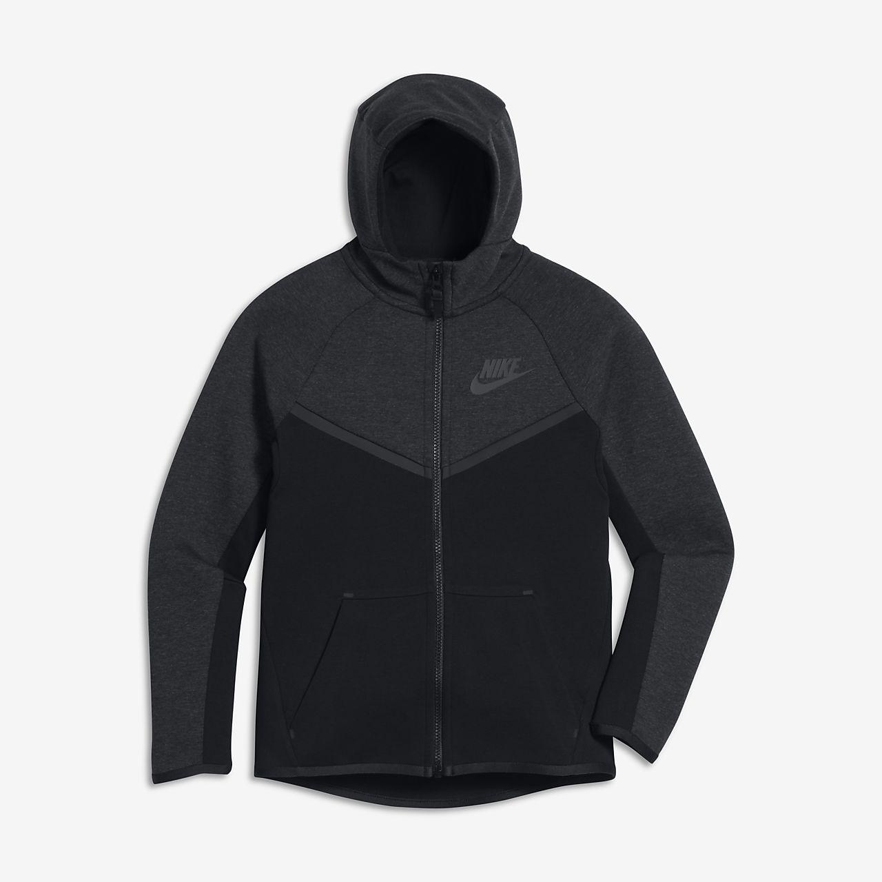 Huvtröja med hel dragkedja Nike Sportswear Tech Fleece Windrunner för ungdom (killar)