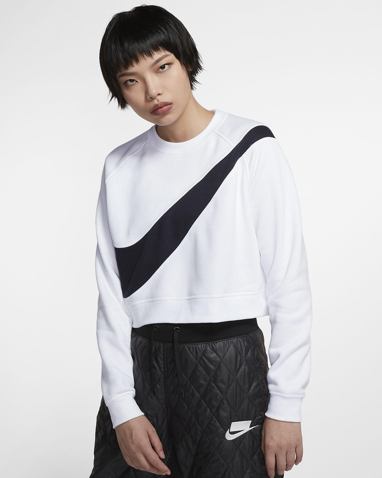 Nike Sportswear Swoosh 女子起绒圆领上衣