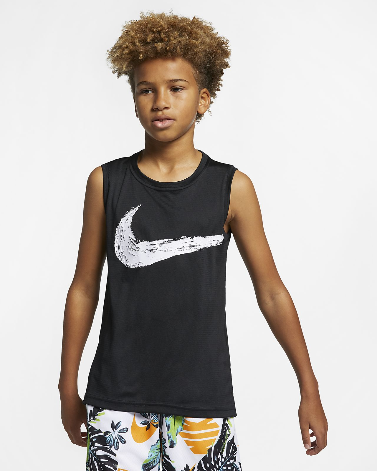 Nike Dri-FIT 大童(男孩)无袖训练上衣