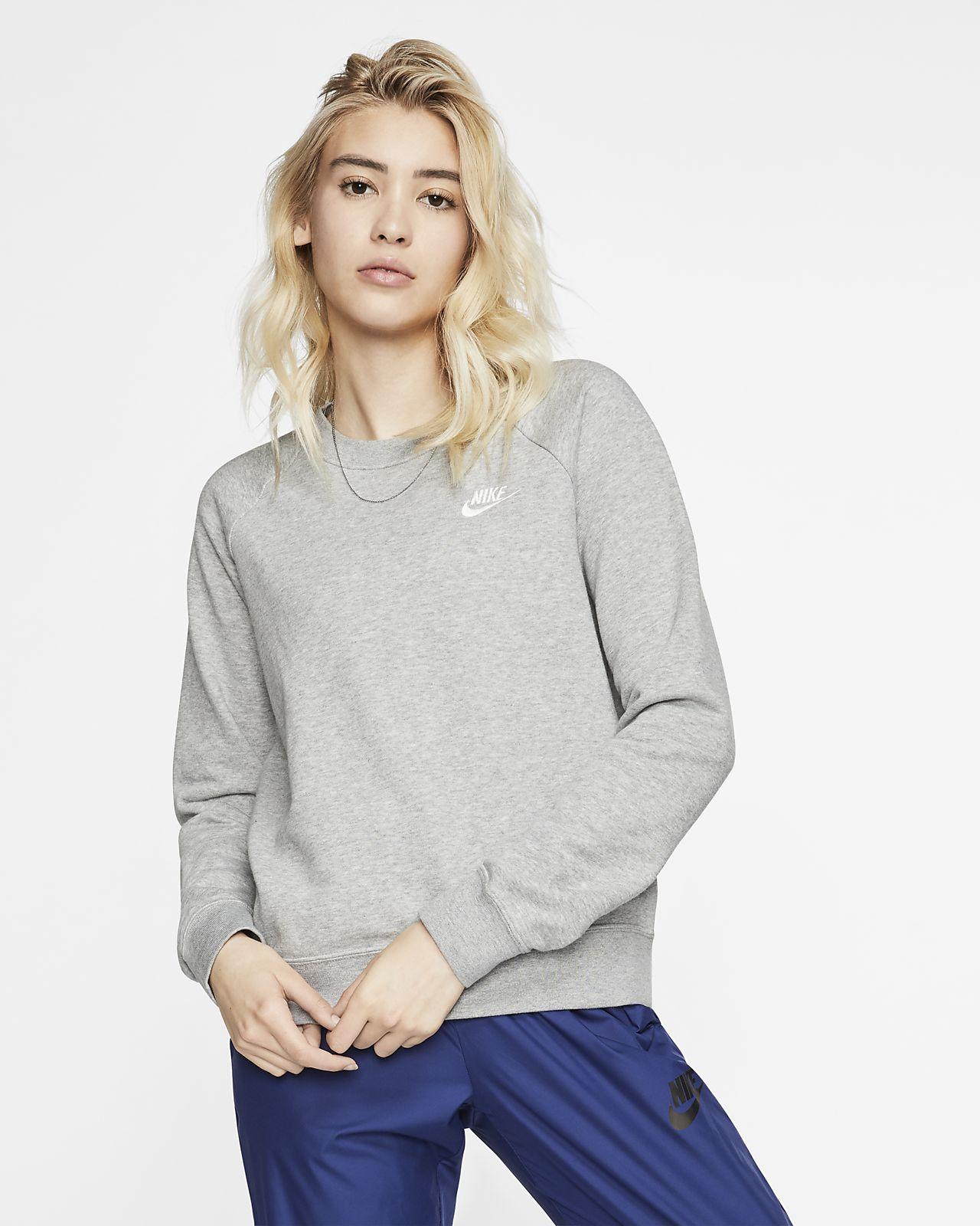 Nike Sportswear Essential Fleece Rundhalsshirt für Damen
