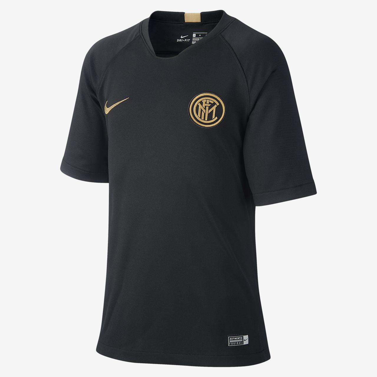 Nike Breathe Inter Milan Strike Older Kids' Short-Sleeve Football Top
