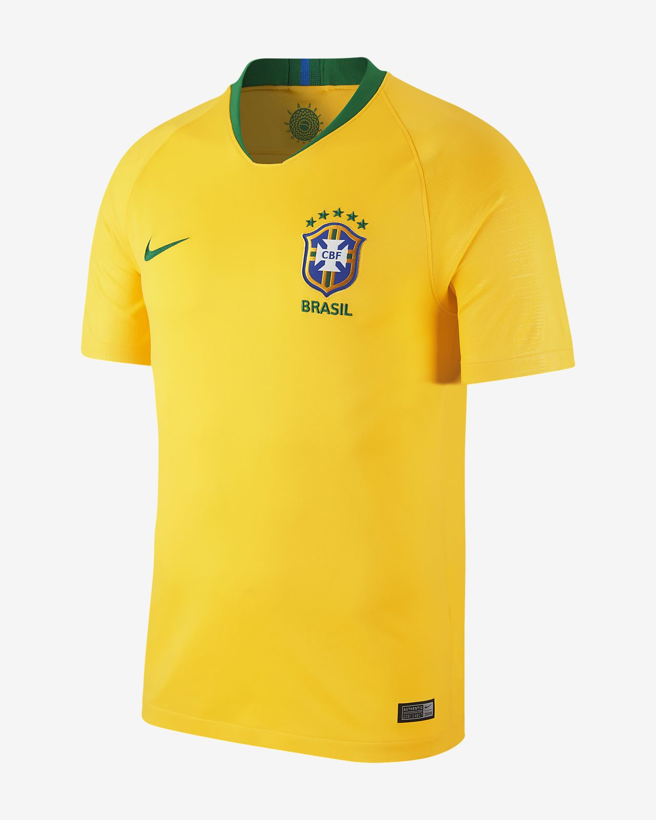 Camiseta de fútbol de local para hombre Stadium de Brasil CBF 2018