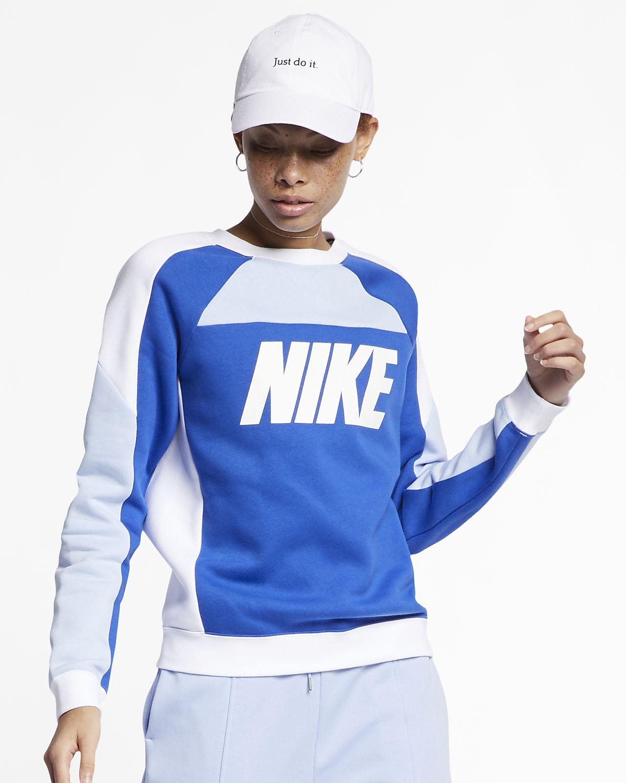 69a250be Nike Sportswear Women's Fleece Color-Block Crew. Nike.com