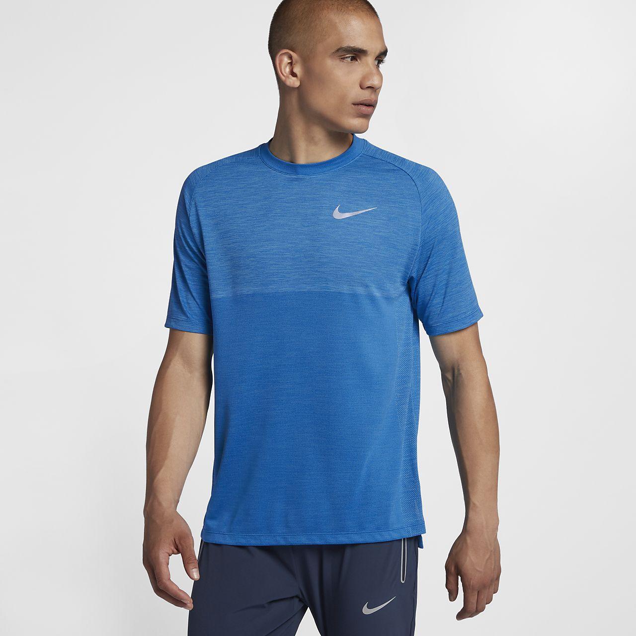 Kortærmet Nike Dri-FIT Medalist-løbeoverdel til mænd