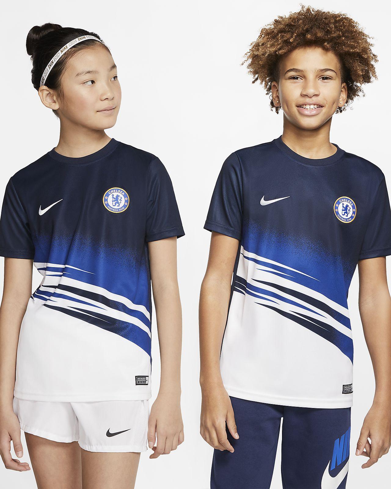 Haut de football à manches courtes Chelsea FC pour Enfant plus âgé