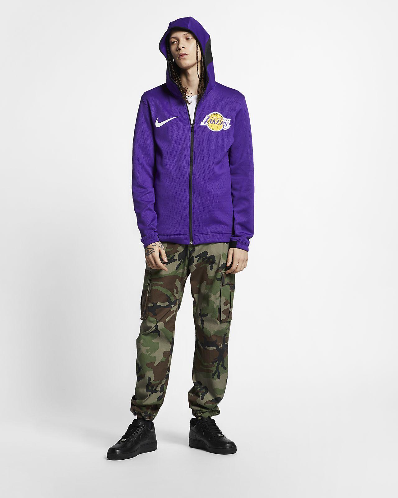 6fe4b12c Los Angeles Lakers Nike Therma Flex Showtime Men's NBA Hoodie. Nike ...