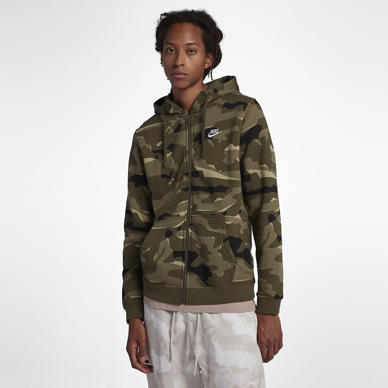 Hombre Club Sportswear Capucha Nike Cremallera Sudadera Con Completa 805vqw