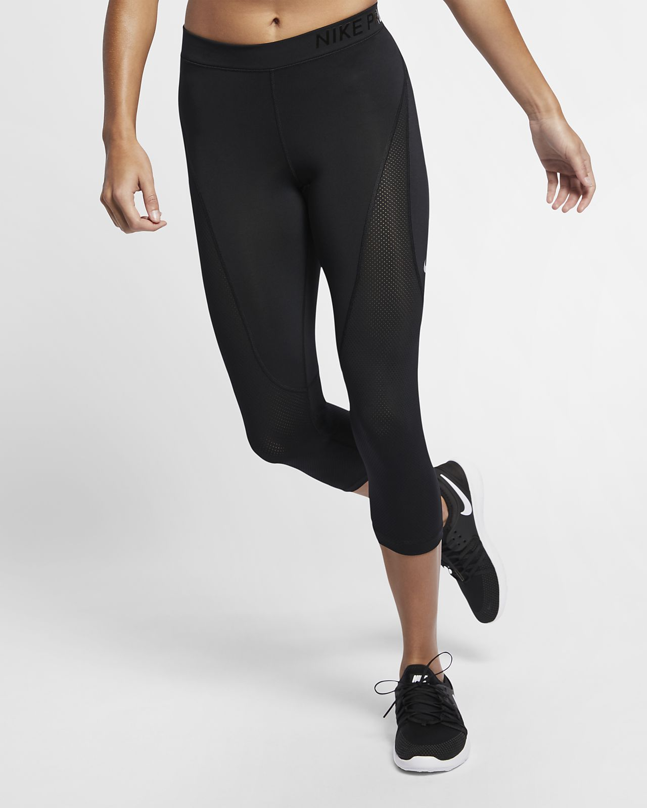 pretty nice 235c9 6952a ... Nike Pro HyperCool Women s Mid-Rise Training Crops