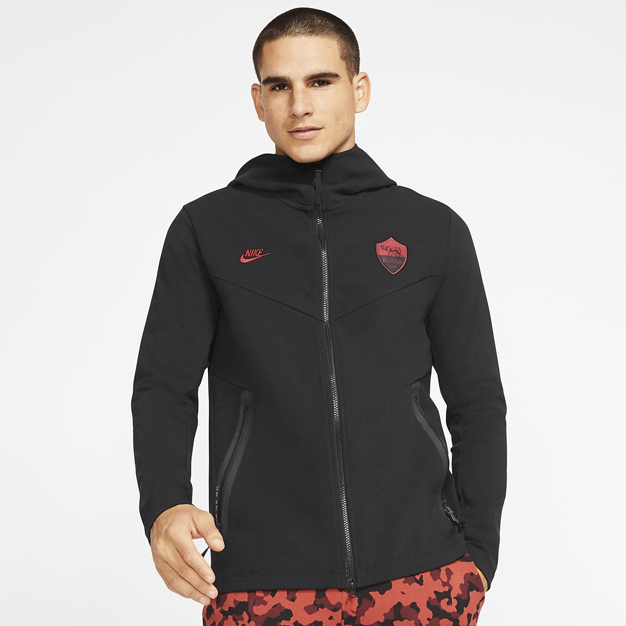 A.S. Roma Tech Pack Men's Full-Zip Football Hoodie
