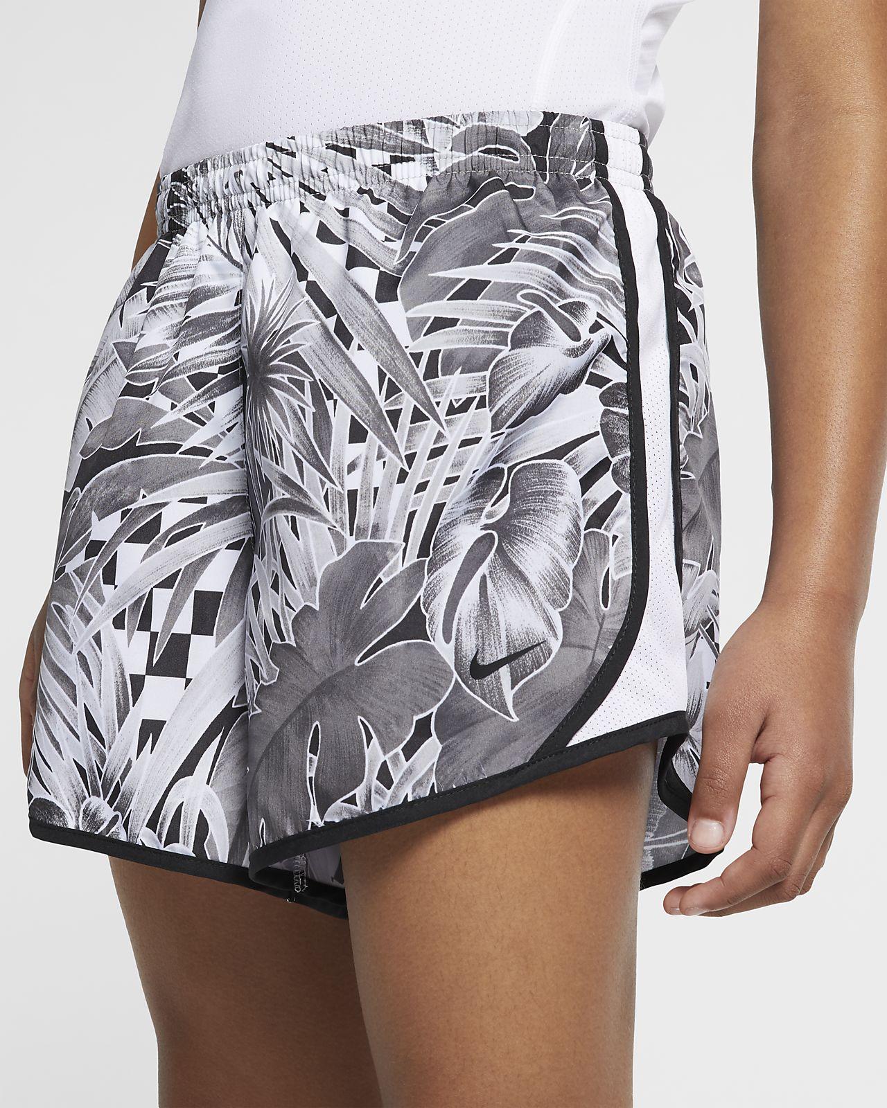 5821090cacd1 Nike Dri-FIT Tempo Big Kids' (Girls') Printed Running Shorts. Nike.com