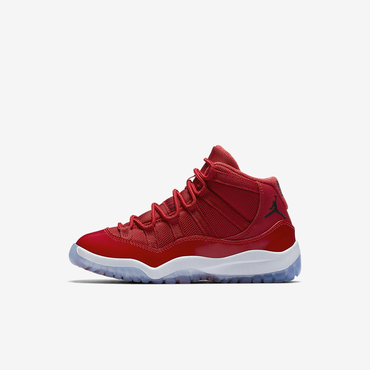 Nike Air Jordan XI Retro Three-Quarter Boys Jordan Shoes Red/White/Black dZ6690C