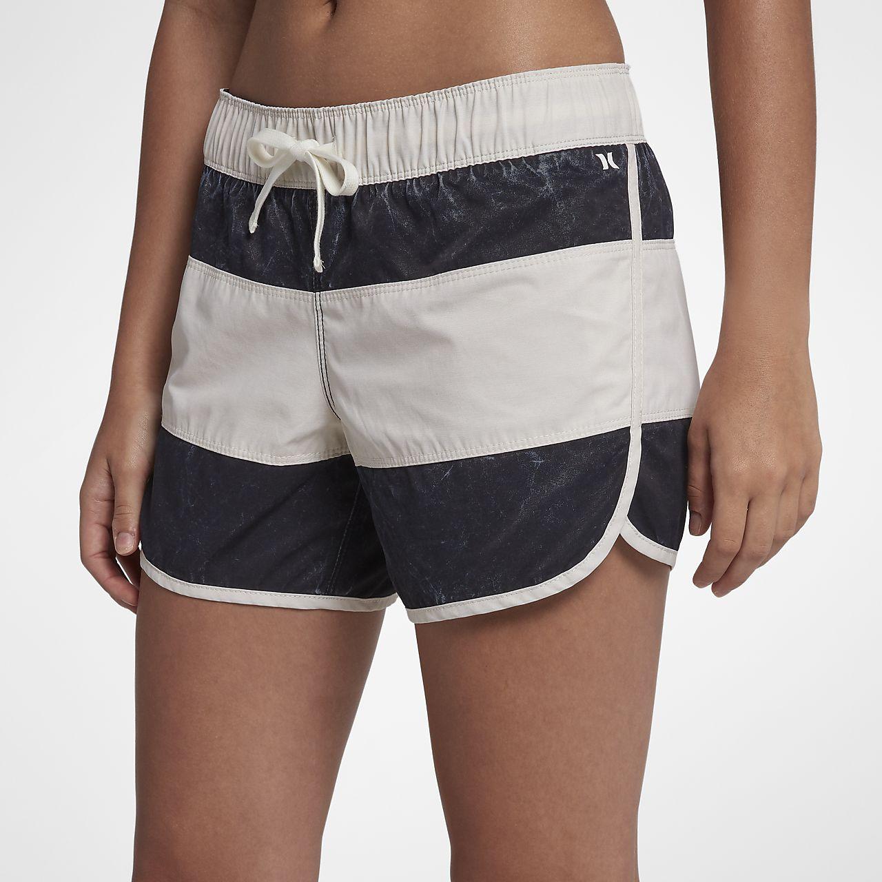 Shorts de playa de 13 cm para mujer Hurley Paneled Wash Beachrider
