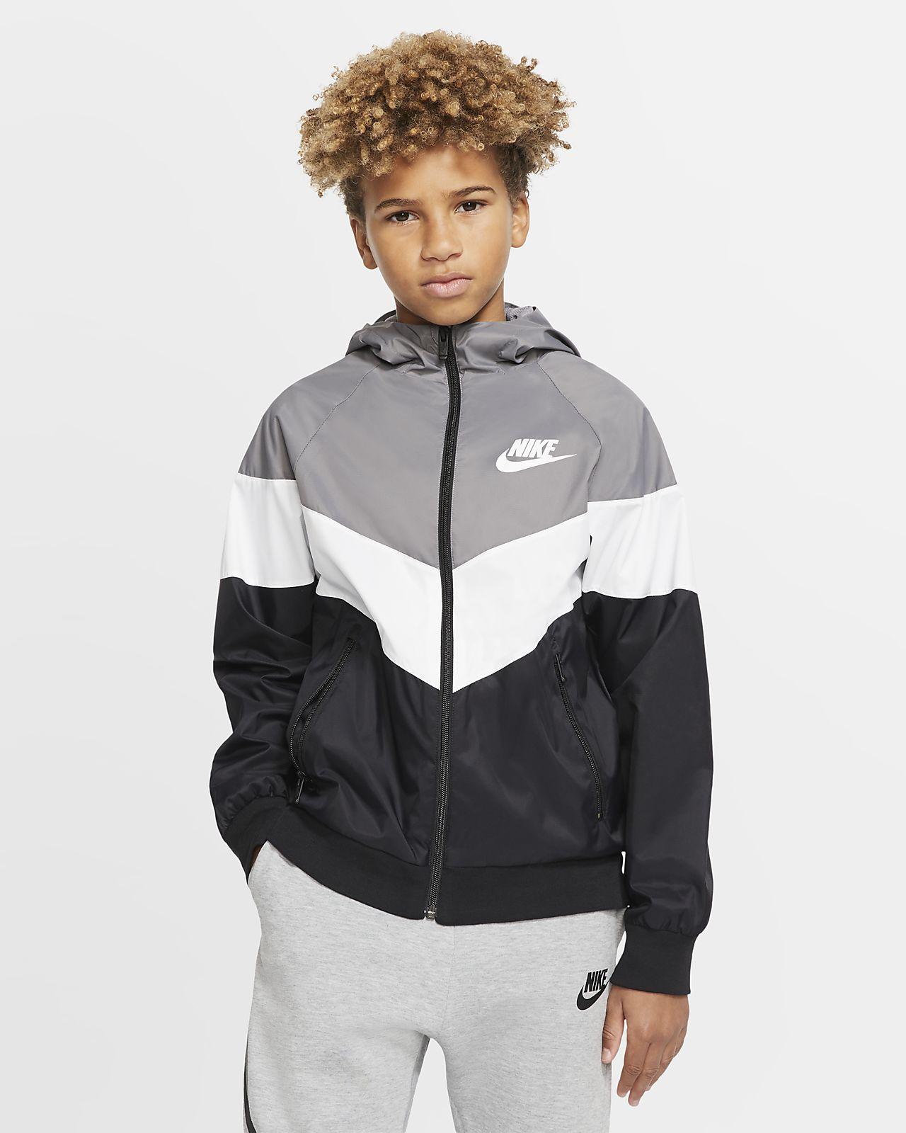 Chamarra para niños talla grande Nike Sportswear Windrunner