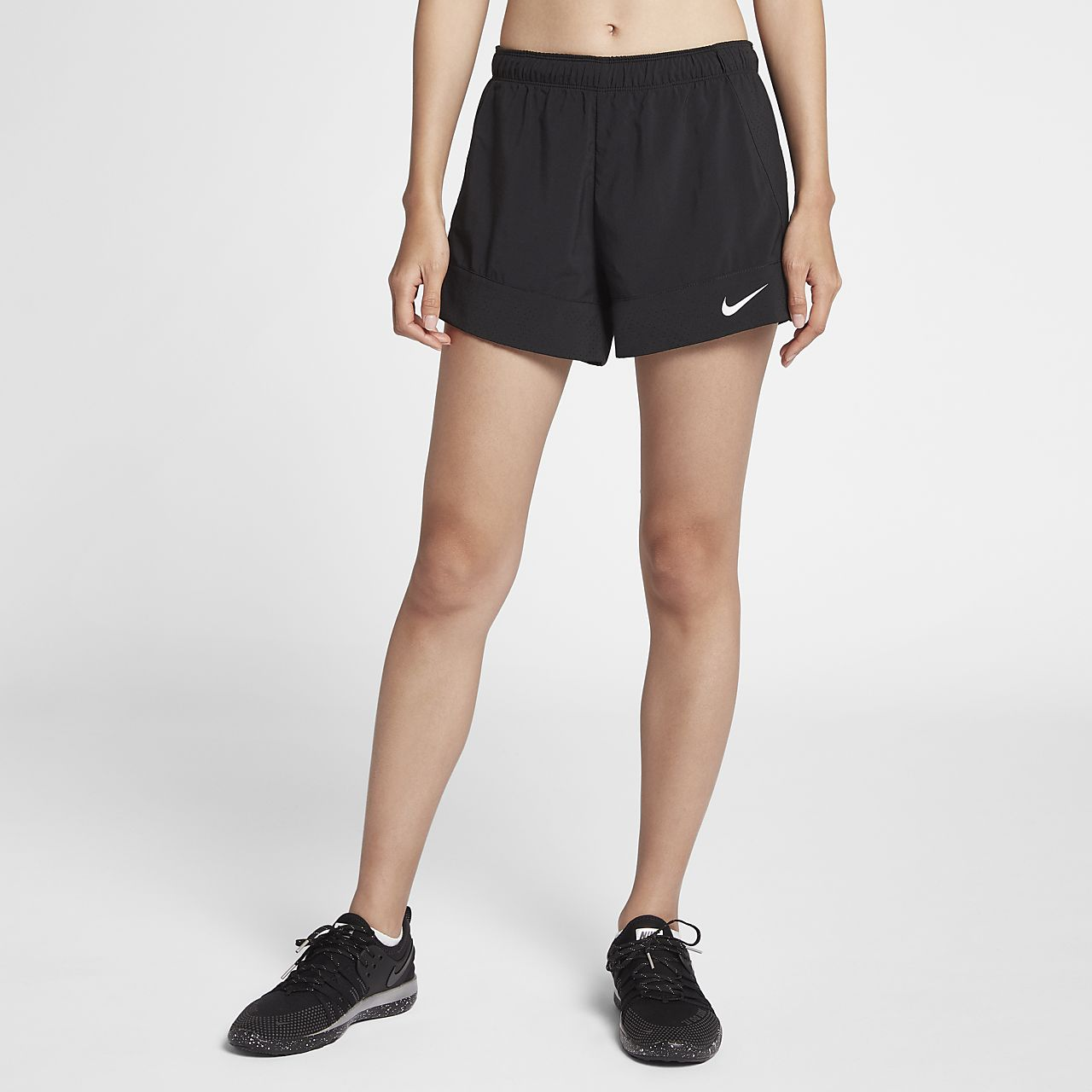 Nike Full Flex 2-in-1 2.0 Women/'s Training Shorts S Black Gym Casual Running New