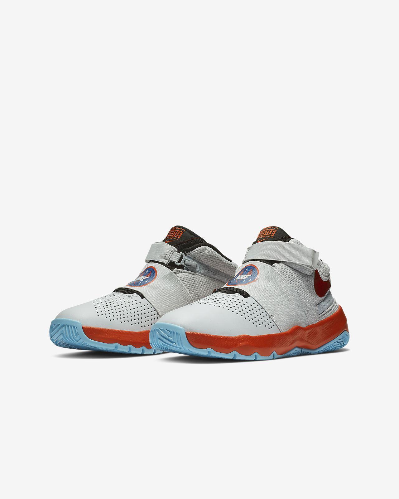 Nike Team Hustle D 8 FlyEase Schuhe Pure PlatinumSchwarz