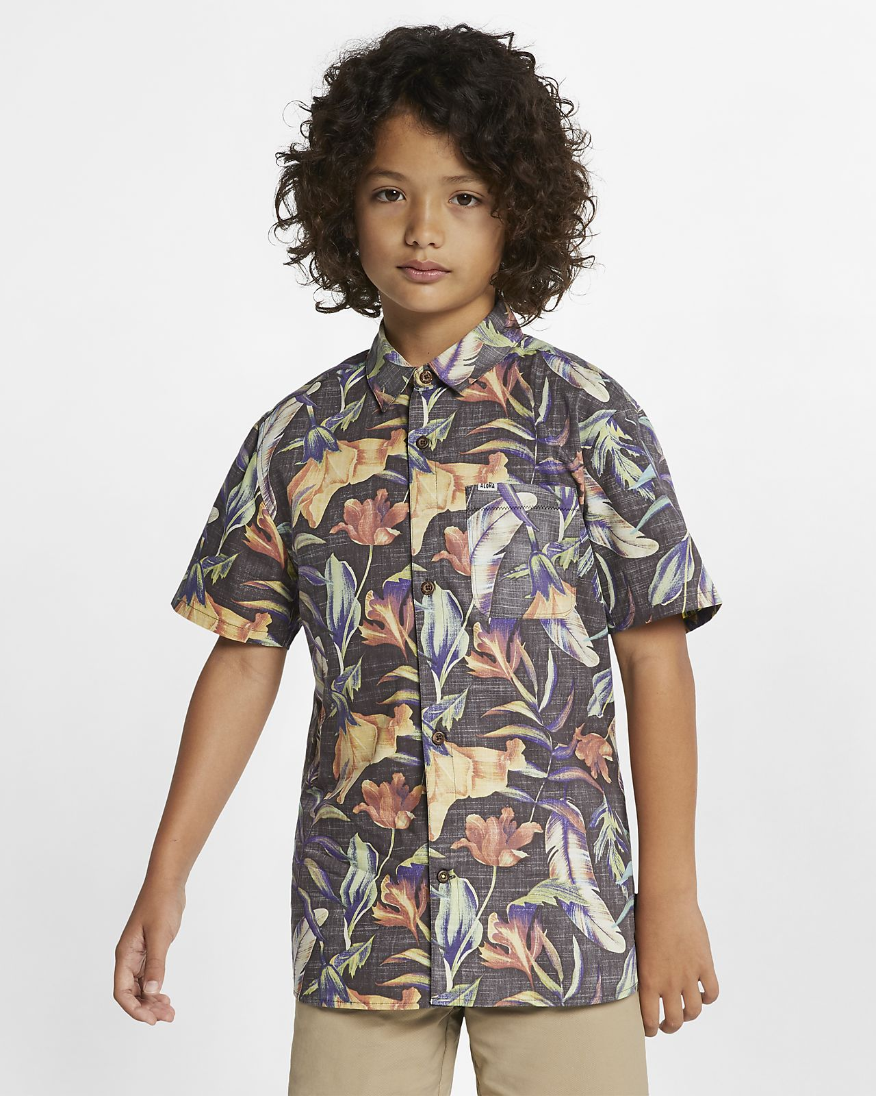 Hurley Fat Cap Boys' Button-Down Top