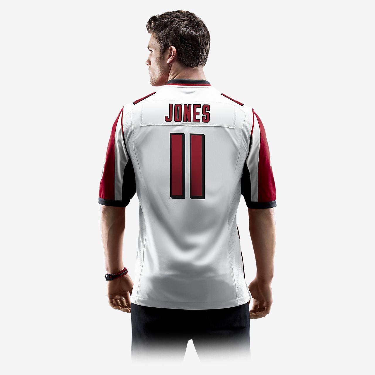 2ad47b69b27 NFL Atlanta Falcons (Julio Jones) Men s Football Away Game Jersey ...