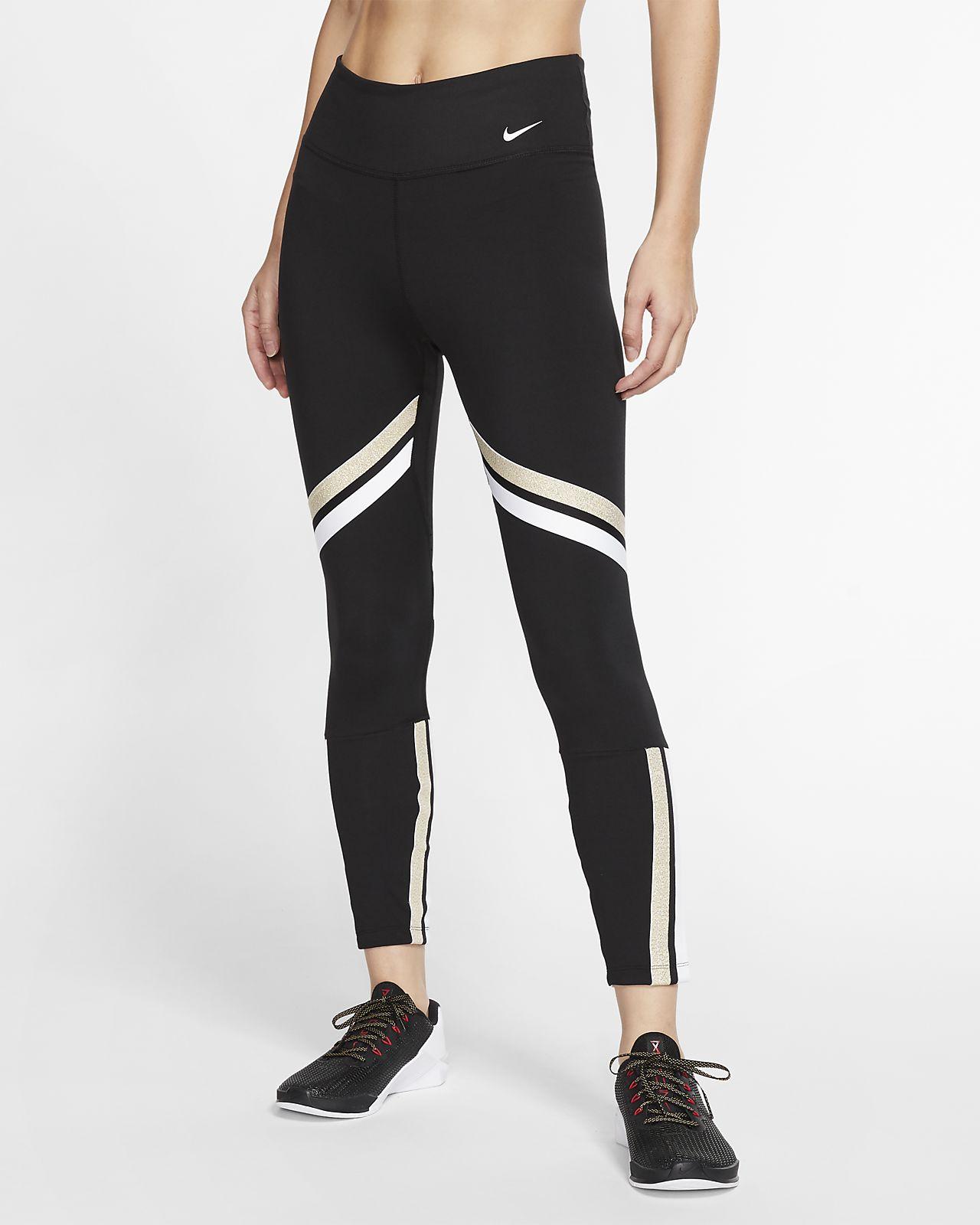 Женские слегка укороченные тайтсы Nike One Icon Clash