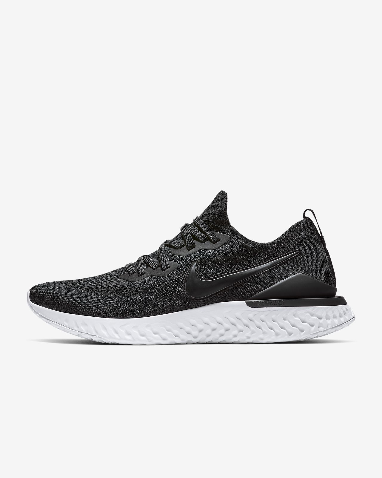 Details about NIKE EPIC REACT FLYKNIT 2 New Men's Black Sapphire Running Shoes MSRP $150