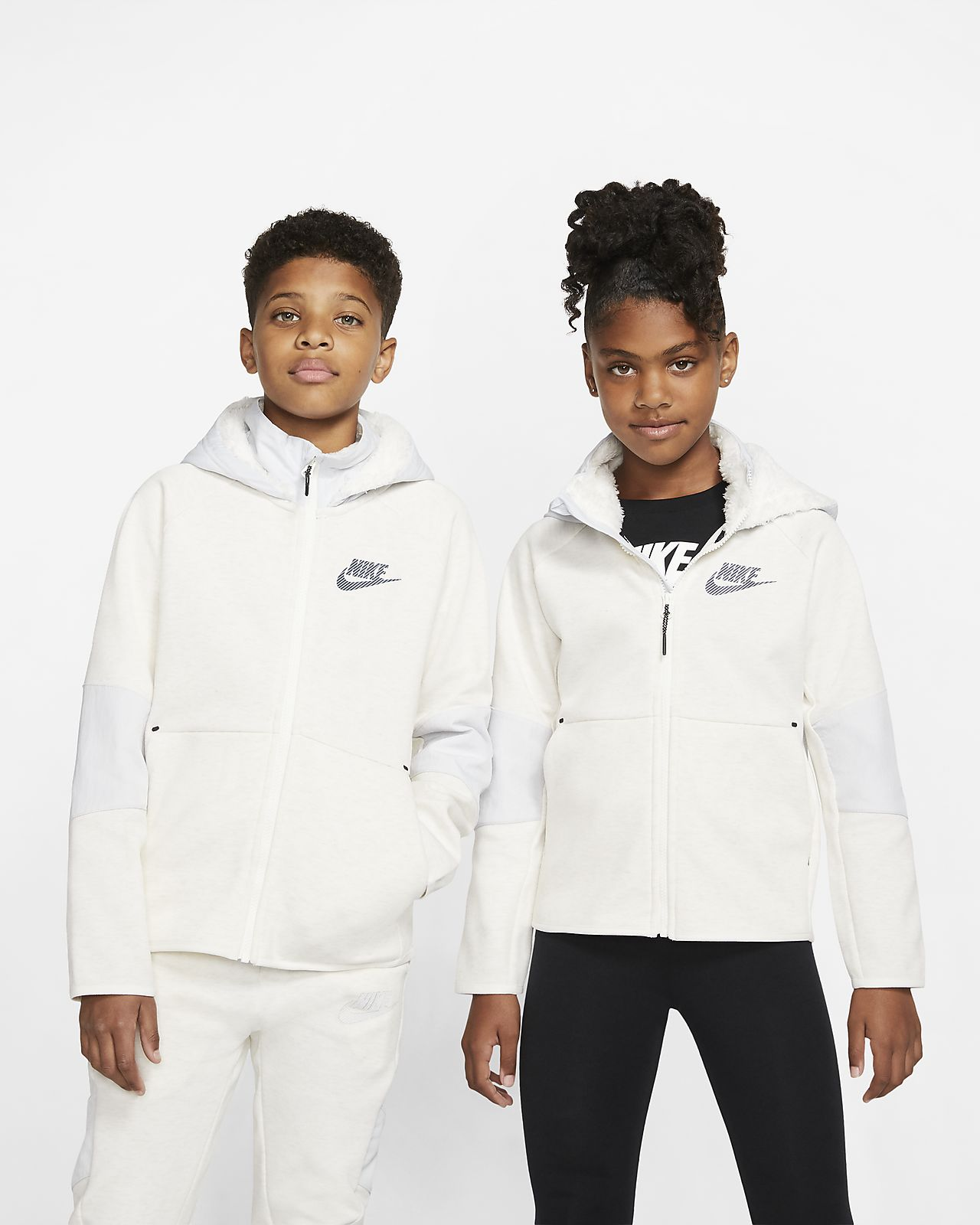 Nike Sportswear Winterized Tech Fleece Big Kids' Full-Zip Hoodie
