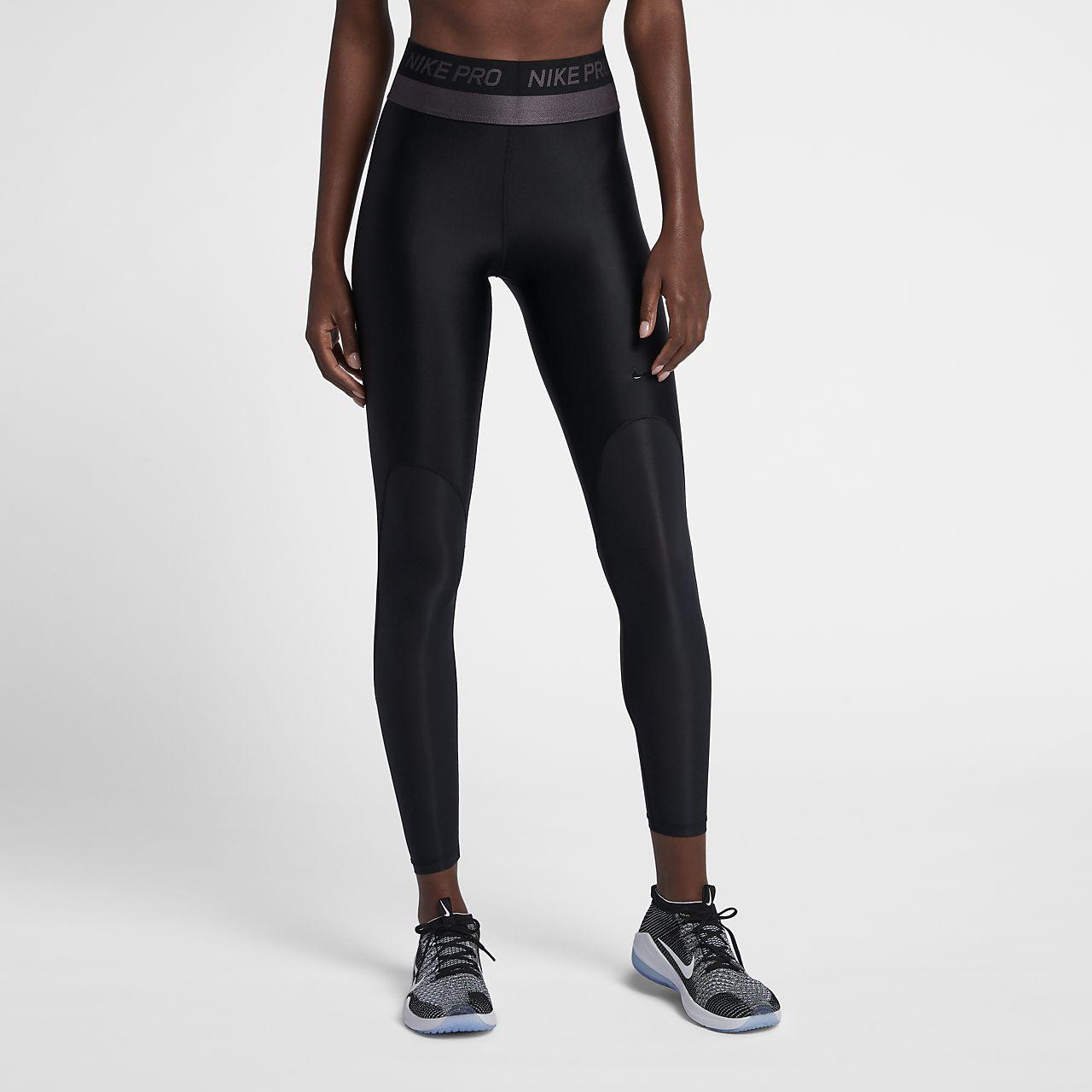 Nike Pro HyperCool Trainings-Tights mit halbhohem Bund für Damen